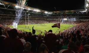Inside the Suncorp Stadium in Brisbane