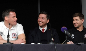 Konferensi pers pertandingan amal Liverpool All-Star