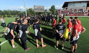 Latihan terbuka LFC di Universitas Princeton, New Jersey