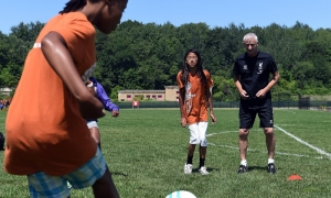 Foundation teach kids at Camp Harbor View