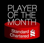 standard chartered player of the month
