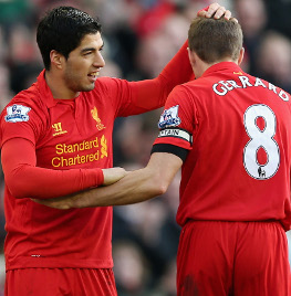 steven gerrard, gerrard, luis suarez, suarez