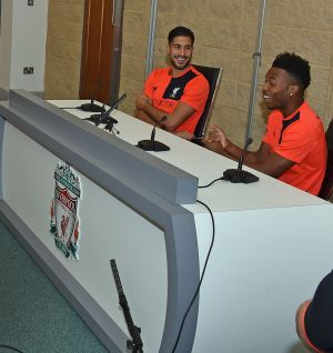 Emre and Sturridge share their knowledge with LFC Foundation Football College students