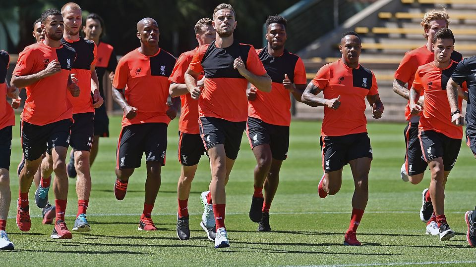 Reds' first USA training session