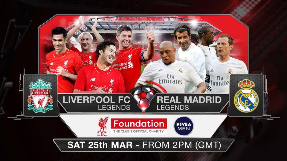 LIVE: LFC Legends v Real Madrid Legends