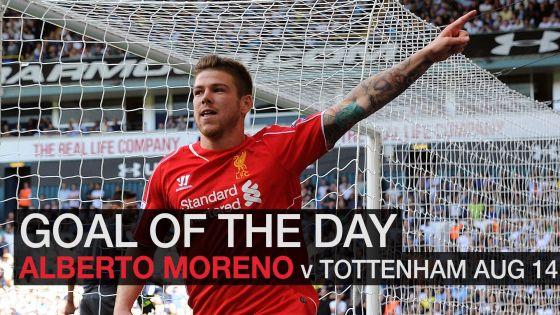 Alberto Moreno vs Tottenham (AUG 2014)