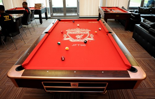 White Donates Melwood Pool Table Liverpool Fc